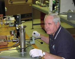 Technician Herb Performing a Pressure Calibration